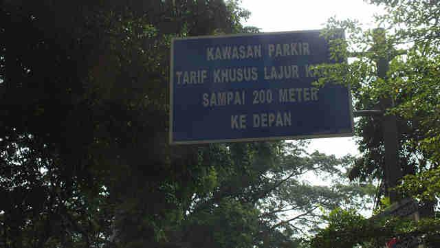 Kawasan Parkir Tarif Khusus di Bogor