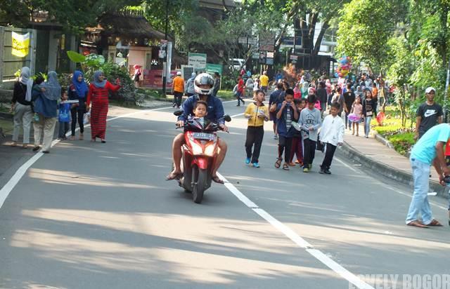 Hari Bebas Kendaraan Bermotor di Sempur Bogor