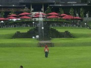 The View of Astrid Park in Bogor Botanical Gardens