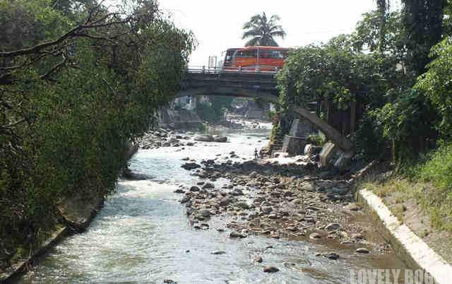 Ciliwung River in Dry Season