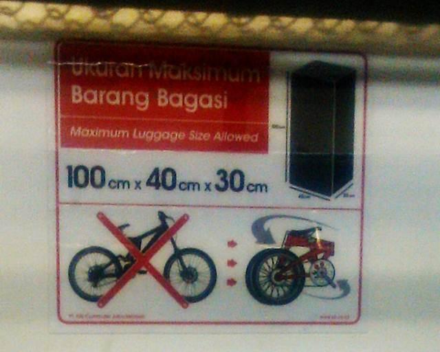Ukuran Maksimum Barang Bagasi Commuter Line