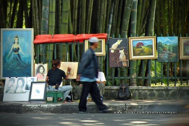 Pelukis di Jalan Juanda Bogor