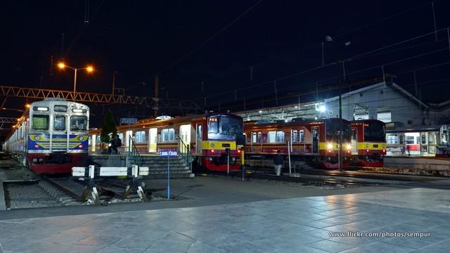 Stasiun bogor Di Malam Hari