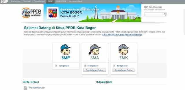 Situs PPDB Online Kota Bogor