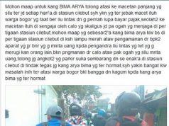 Kasihan warga Kabupaten Bogor mengeluh tentang kemacetan di cilebut kepada Bima Arya walikota bogor