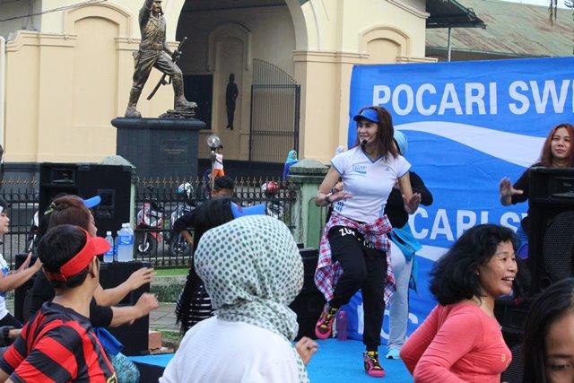 Senam pagi di Car free Day Bogor 3