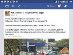 tanggapan netizen terhadap demo dan mogok angkot di bogor maret 2017