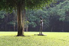 (Foto) Patung Peniup Seruling di Halaman Belakang Istana Bogor