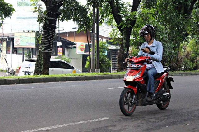 Texting While Riding in Bogor