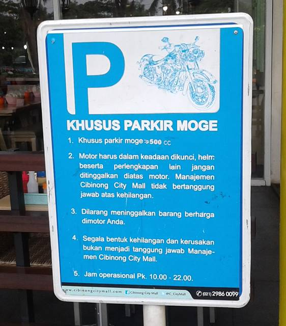 Ada Tempat Parkir Khusus Moge dan Super Car di CCM (Cibinong City Mall)