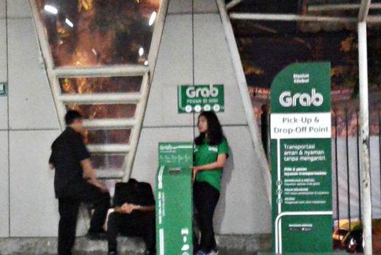 grab pick up dan drop point di stasiun cilebut