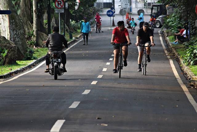 Sepeda Motor Boleh Masuk Kebun Raya Bogor