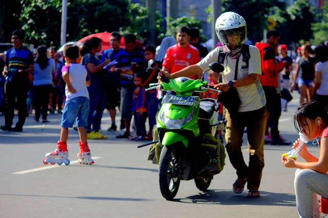 sepeda motor boleh melintas saat car free day bogor asalkan