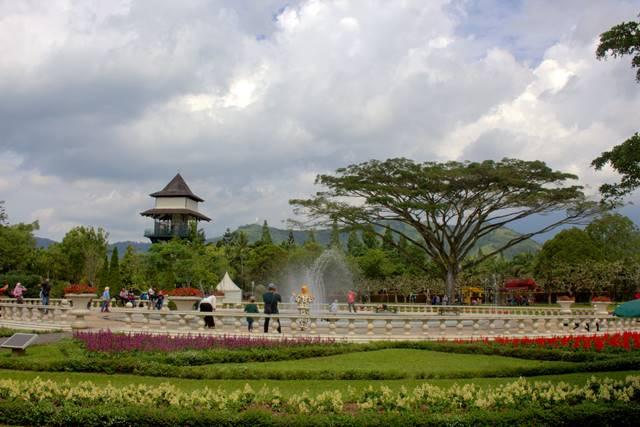Keindahan Taman Bunga Nusantara Kabupaten Cianjur