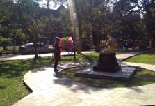 Patung Revitalisasi Sumpah Pemuda Hiasi Taman Kencana