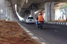 Pemandangan di Kolong Tol Bogor Outer Ring Road IIB