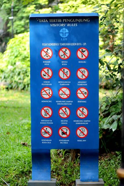 Tata Tertib Pengunjung Kebun Raya Bogor 2