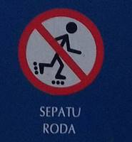 Tata Tertib Pengunjung Kebun Raya Bogor - Dilarang Bermain Sepatu Road - Skateboard