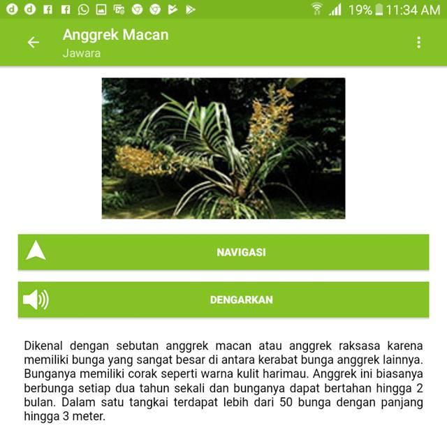 aplikasi jawara - Jelajah wisata dan belajar di kebun raya indonesia H