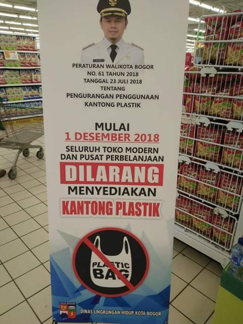 toko modern dan Pusat perbelanjaan dilarang menyediakan kantong plastik mulai 1 desember 2018