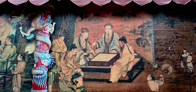 Mural (Lukisan Dinding) Cantik di Pintu Masuk Vihara Dhanagun