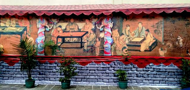 Mural Indah di Tembok Klenteng Hok Tek Bio AA