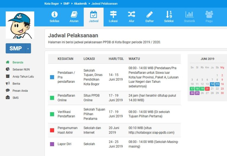 Jadwal Pelaksanaan PPDB Online Kota Bogor 2019