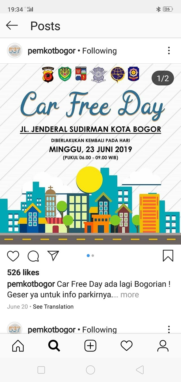 Betulkah Tidak Ada Lagi Pedagang Di Car Free Day Bogor Versi Baru001