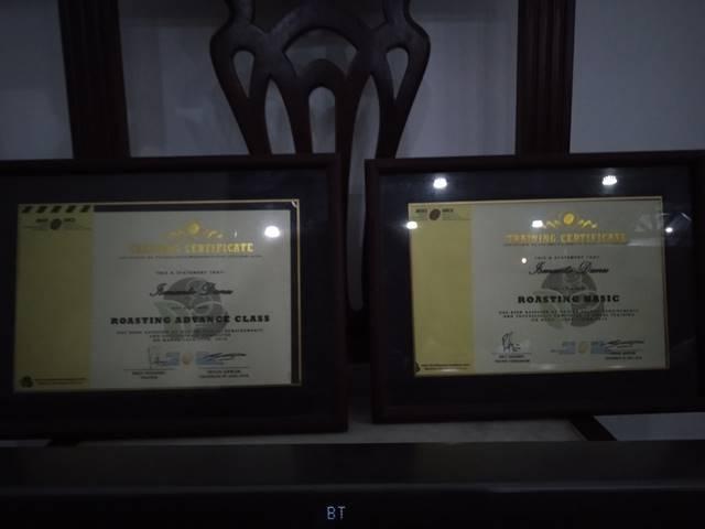 rumah kopi bogor - sertifikat pelatihan roasting AEKI
