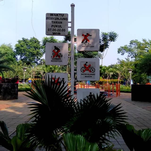 7 + 3 Aturan / Tata Tertib Pengunjung Taman Heulang