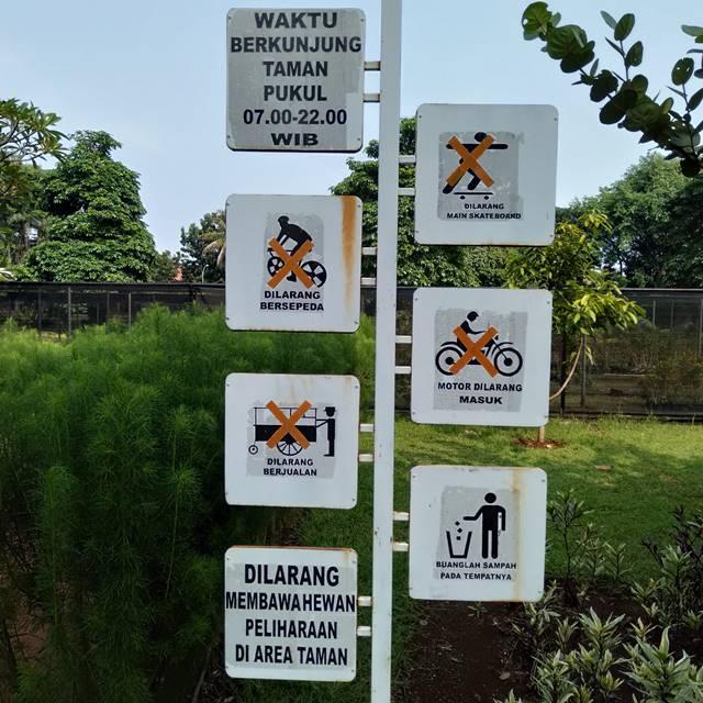 Aturan Tata Tertib Pengunjung Taman Heulang C