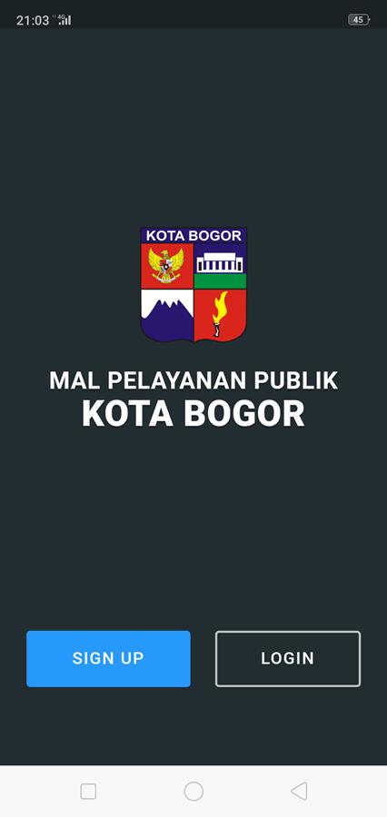 Cara Daftar Booking Antrian Online Di Grha Tiyasa (Mal Pelayanan Publik - MPPP) Kota Bogor C - Layar Tampilan