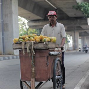 Papaya Seller On The Street