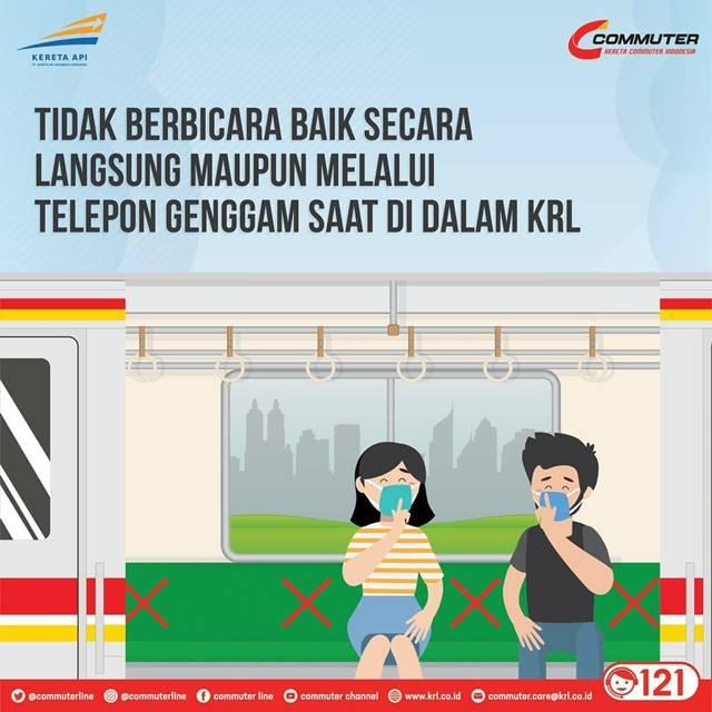 [INFO] Dilarang Berbicara, Ngobrol, Atau Menelpon Di Atas Commuter Line 2