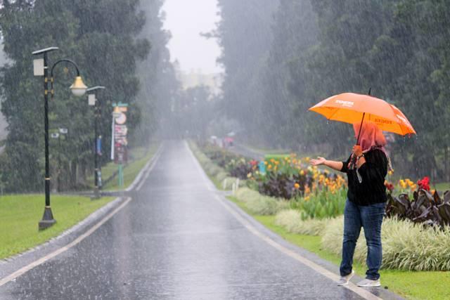 Jalan Astrid Kebun Raya Bogor di Kala Hujan