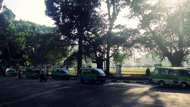 The view of Juanda Street On The Morning